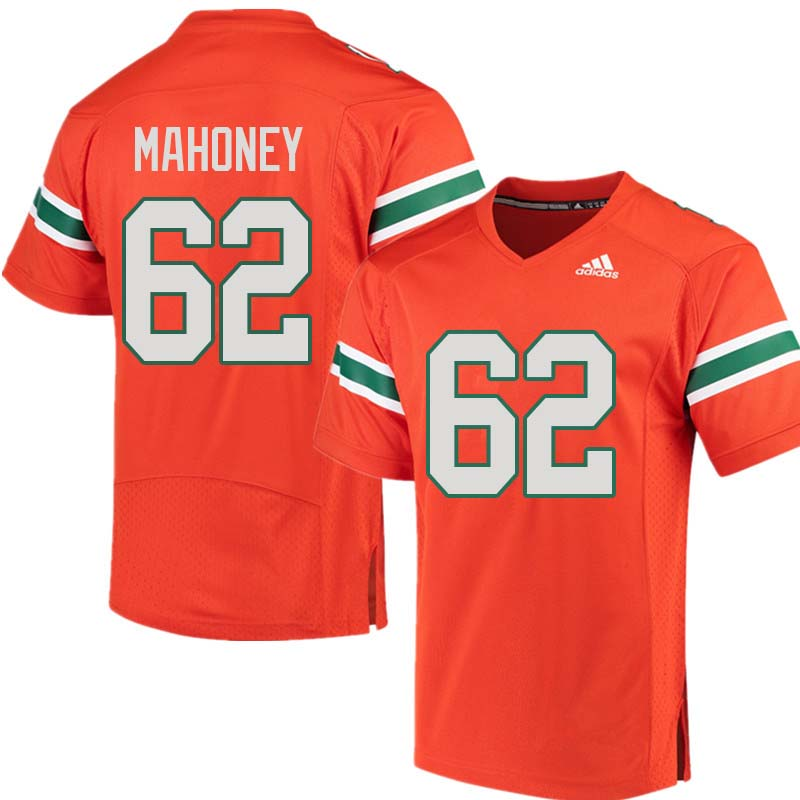 Adidas Miami Hurricanes #62 Hayden Mahoney College Football Jerseys Sale-Orange
