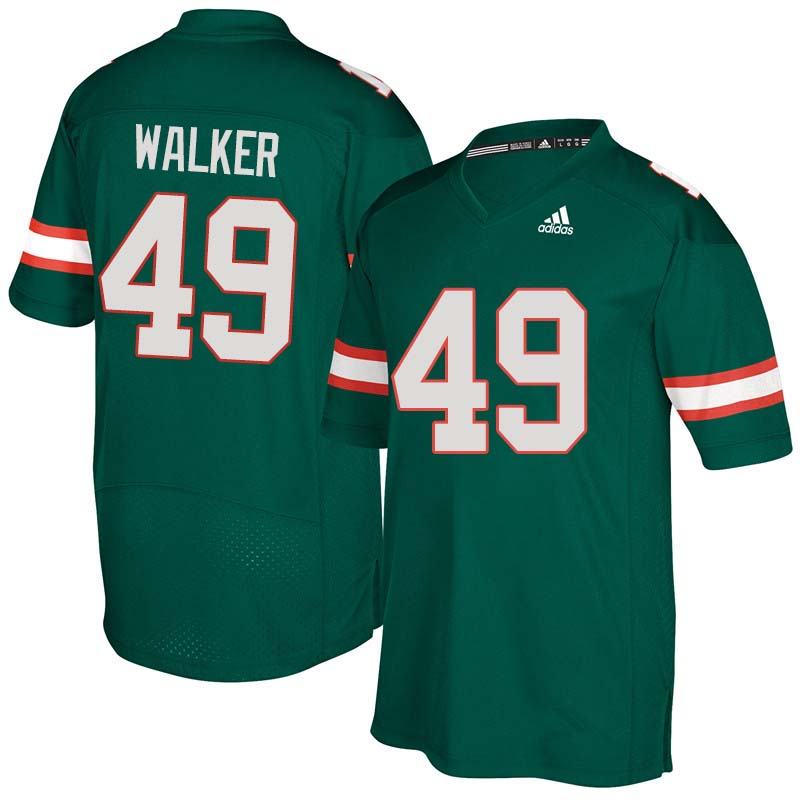 Adidas Miami Hurricanes #49 Shawn Walker College Football Jerseys Sale-Green