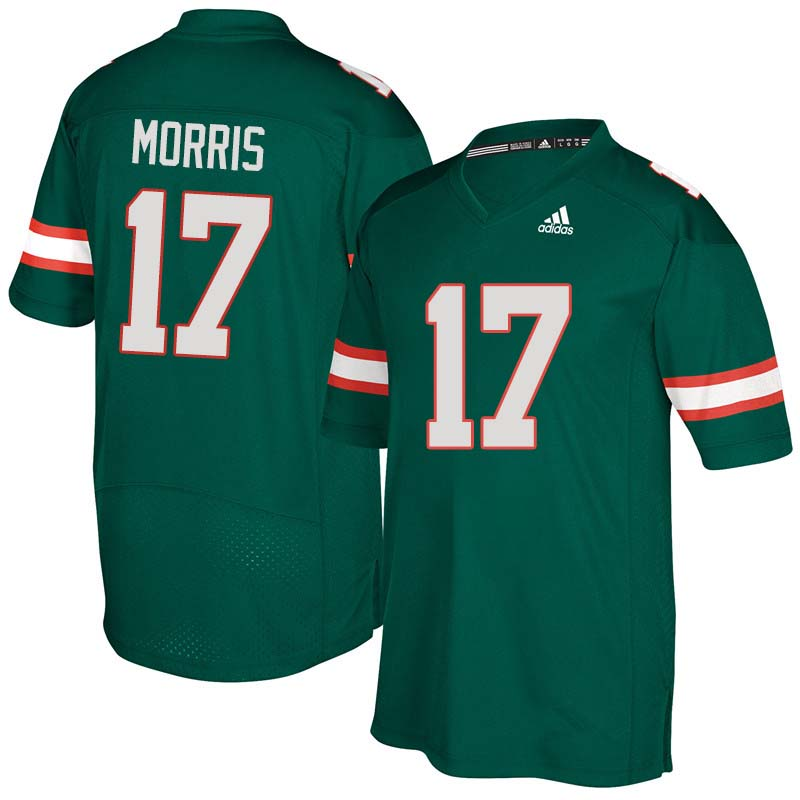 Adidas Miami Hurricanes #17 Stephen Morris College Football Jerseys Sale-Green