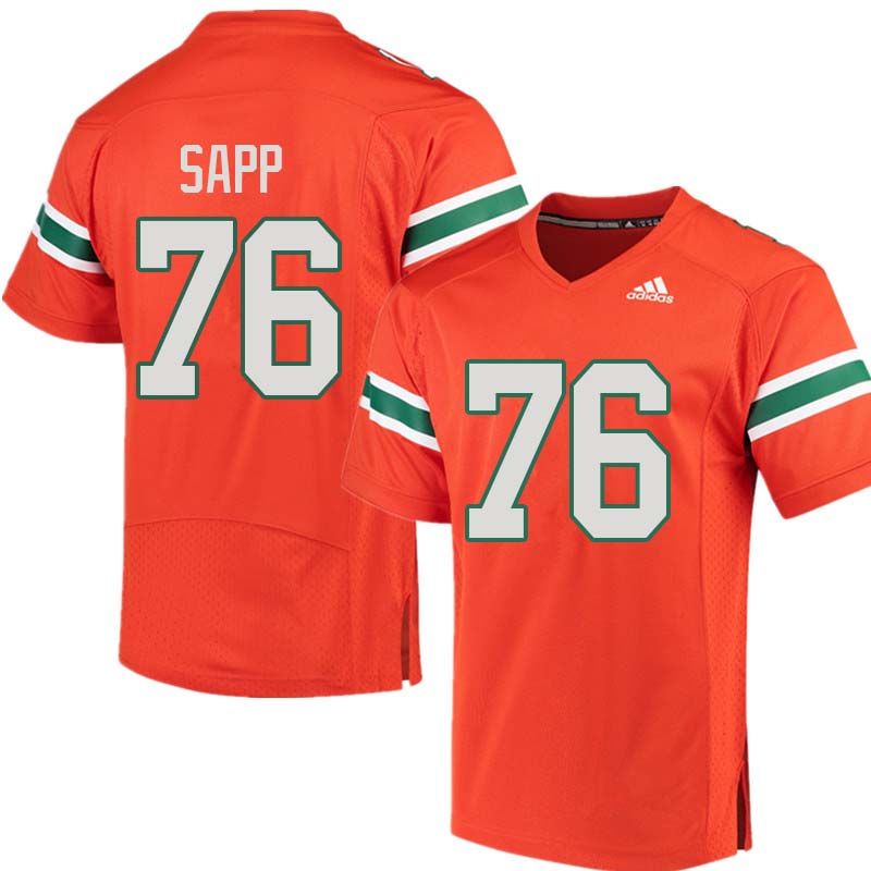 Adidas Miami Hurricanes #76 Warren Sapp College Football Jerseys Sale-Orange