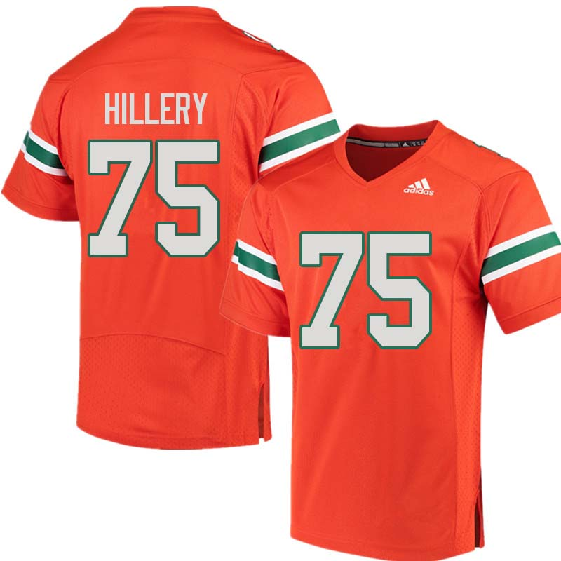 Adidas Miami Hurricanes #75 Zalontae Hillery College Football Jerseys Sale-Orange