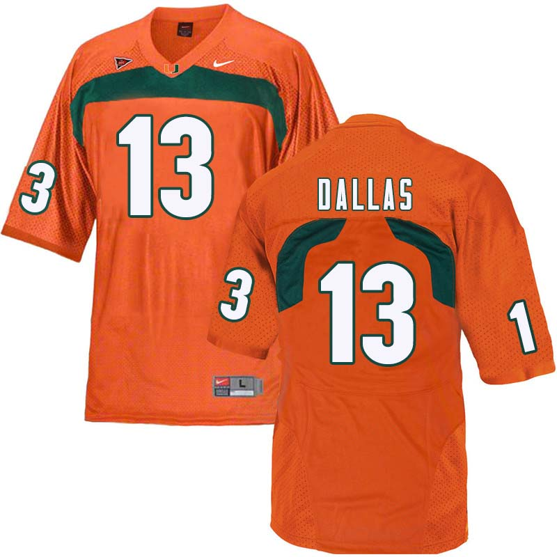 Nike Miami Hurricanes #13 DeeJay Dallas College Football Jerseys Sale-Orange