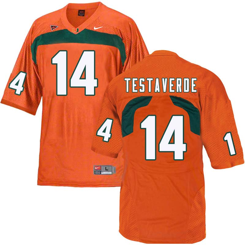 Nike Miami Hurricanes #14 Vinny Testaverde College Football Jerseys Sale-Orange